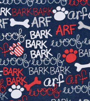 Snuggle Flannel Fabric 42''-Woof, Bark & Arf