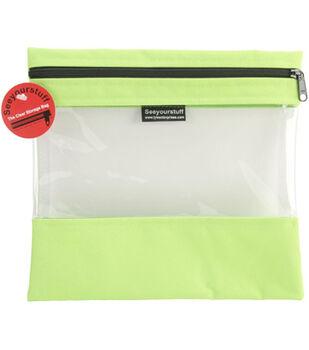 "10""x11"" Seeyourstuff Clear Storage Bag-Lime"