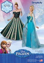 Simplicity Pattern 1215-Misses' Frozen Costumes, , hi-res