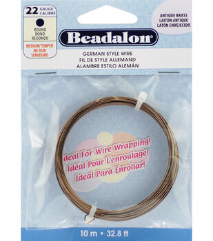 German Style Wire-Antique Brass 22 Gauge 32.8 Feet/Pkg