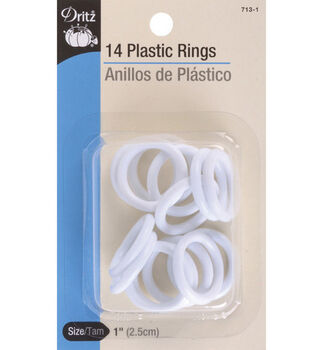 "Dritz 1"" Plastic Rings 14pcs"