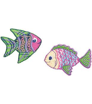 Simplicity Iron-On Appliques 2/Pkg-Tropical Fish