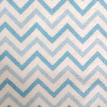 Snuggle Flannel Fabric Chevron Blue Small