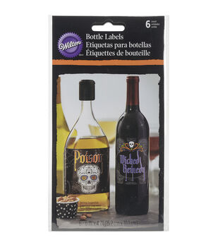 Wilton® Bottle Labels 6/Pkg-Deadly Soiree
