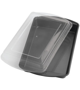 """Wilton® Perfect Results 13""""X9"""" Oblong Cake Pan W/Cover"""