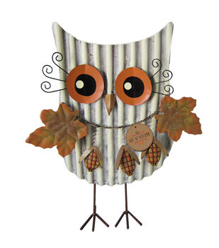 Art of Autumn Metal Yard Stake-Standing Owl