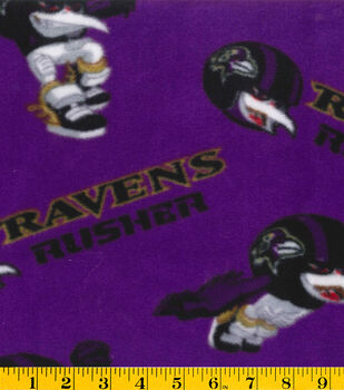 Baltimore Ravens NFL Rush Zone Fleece Fabric by Fabric Traditions