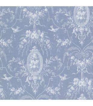 Flourish Blue Cameo Fleur Wallpaper