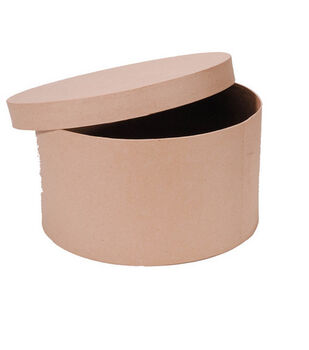 "Darice® 14"" Paper Mache Hat Box"