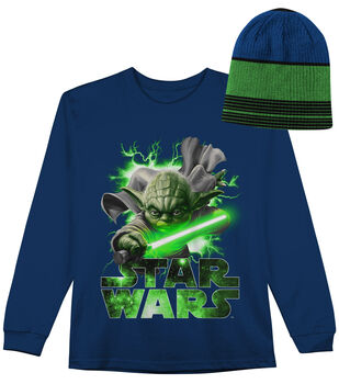 Star Wars Yoda Long Sleeved Shirt with Hat