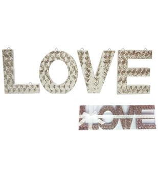 Valentine's Day Glitter Decoration-Love