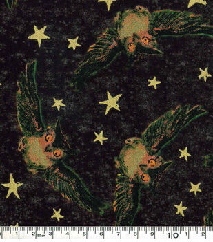 Halloween Cotton Fabric-Owls And Stars