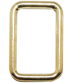 Bag Works Purse/Tote Rings 2/Pkg-Gold Square