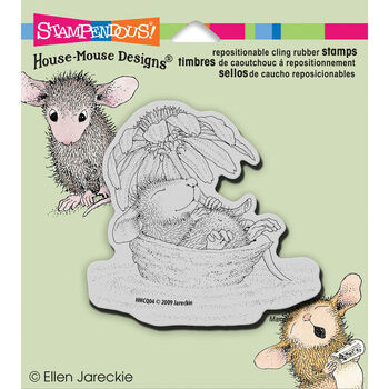 Stampendous House Mouse Cling Stamp Daisy Float
