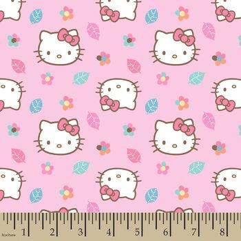 Nursery Fabric- Hello Kitty Fall Flower Toss