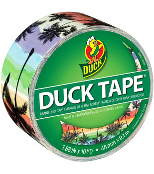 "ShurTech 1.88""x10yds Patterned Duck Tape-Sunset Strip"