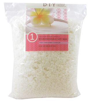 DIY Candle Creations Step 1: 2 LB. Microwavable Soy Wax Flakes