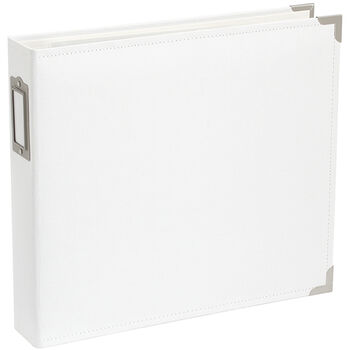"Project Life Cloth D-Ring Album 12""X12""-White"