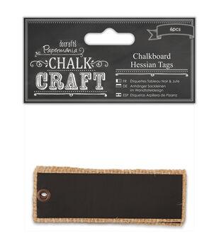 Papermania Chalk Craft Chalkboard Hessian Tags
