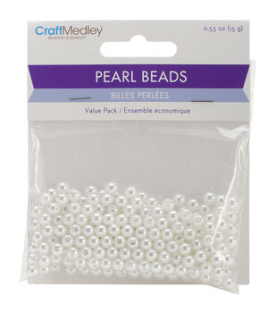 Craft Medley Pearl Beads Value Pack 5mm