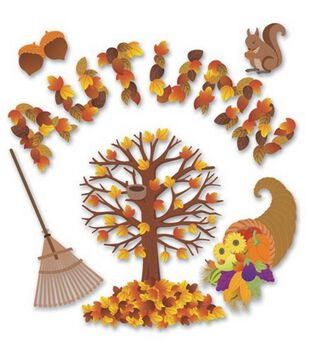 Jolee's Boutique Themed Ornate Stickers-Autumn