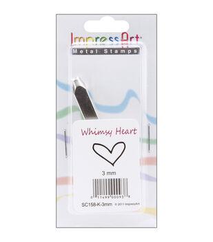 Design Stamps 1/Pkg-Whimsy Heart 3mm