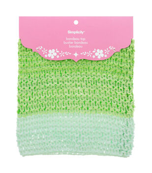 Baby Crochet Bandeau Top- Lime Green