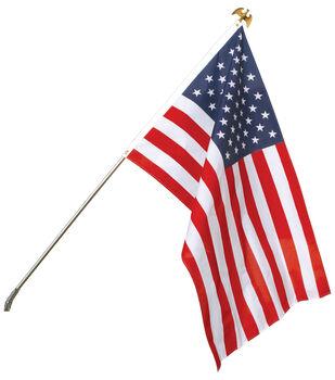 Sea To Shining Sea 30''x48'' USA Flag With Steel Pole