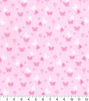 Nursery Flannel Fabric-Sweet Baby Love Butterflies