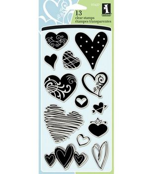 Inkadinkado Clear Stamps-Hearts