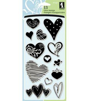 Inkadinkado Clear Stamps-Hearts
