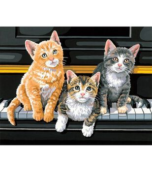 """Dimensions Paint By Number Kit 14""""X11""""-Musical Trio"""