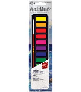 Royal Brush Watercolor Paint Set-12 Colors