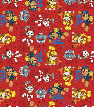 Paw Patrol Rescue Stack Cotton Fabric