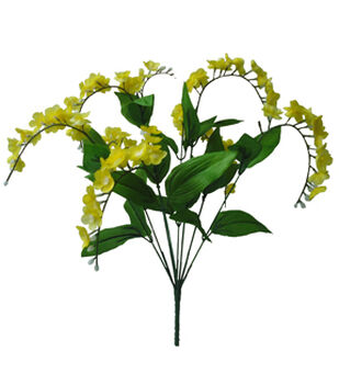Blooming Spring Mini Wisteria Floral Spray-Yellow