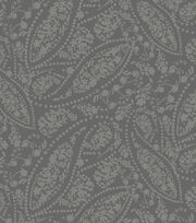 Keepsake Calico™ Cotton Fabric-Gray Tonal Paisley, , hi-res