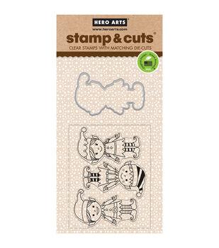 Hero Arts® Santa's Elves Stamp & Cuts