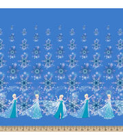 Disney® Frozen Elsa And Snowflakes Falling Mock Smock Fabric, , hi-res