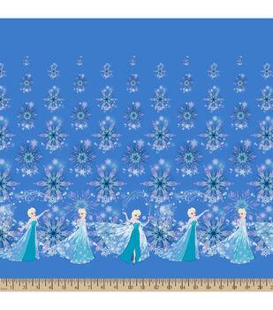 Disney® Frozen Elsa And Snowflakes Falling Mock Smock Fabric
