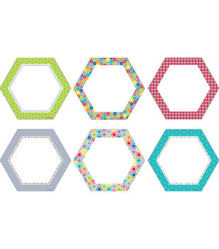 "HexaFun Hexagons 6"" Designer Cut-Outs"