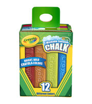 Crayola Sidewalk Chalk 12/Pkg-Assorted Colors, , hi-res