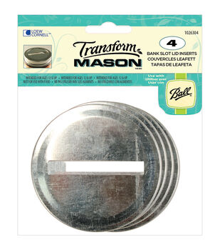 Transform Mason Ball Lid Inserts 4/Pkg-Slotted