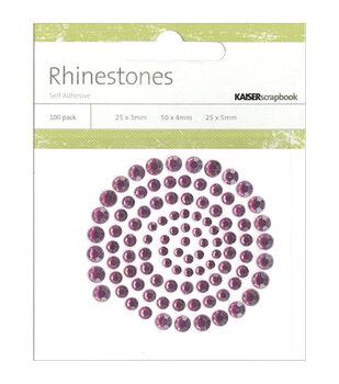Kaisercraft Rhinestone Embellishments-100PK
