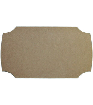"Unfinished MDF Plaque 1/Pkg-Modern 6.5""X11.5"""