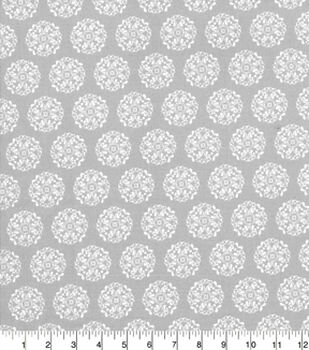 Quilters Showcase Cotton Fabric-Medallion Gray
