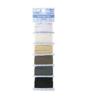 Jewelry Fundamentals Cords & More-Thick Elastic Cord Value Pack, Neutral