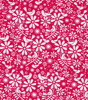 Keepsake Calico™ Cotton Fabric-Birds and Flowers Red, , hi-res