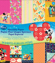 EK Success Disney Double-Sided Specialty Paper Pad Mickey Family, , hi-res