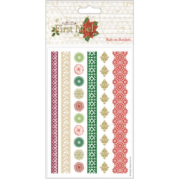 Docrafts Papermania First Noel Rub-Ons Borders