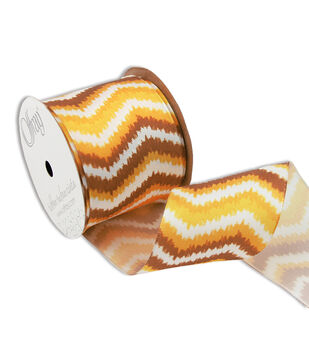 """Offray Wired Aflame 2 1/2"""" Ribbon Orange"""